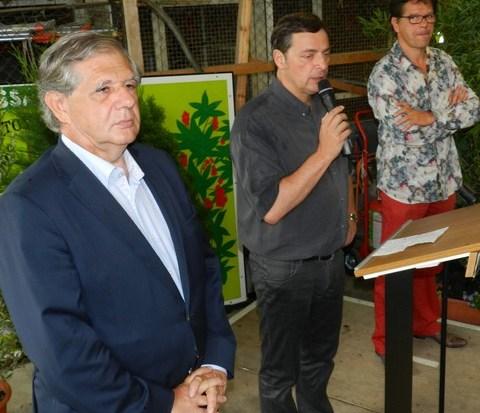 Jacques Mézard, Alain Calmette, Jean-Marie Songy
