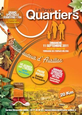 Ronde des quartiers à Aurillac 2011