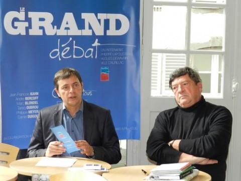 Présentation du Grand Débat au Théâtre, Alain Calmette, Philippe Lapouserte