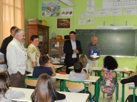 Rentrée scolaire 2011 en présence du Maire d'Aurillac et des élus
