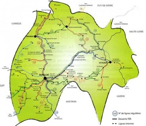 Réseau de transport interurbain du Cantal
