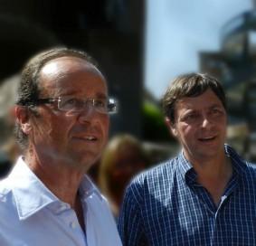 Francois Hollande et Alain Calmette