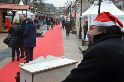 Marché de noël 2012 à Aurillac et orgue de barbarie