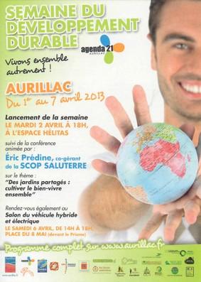 Semaine du développement durable 2013 à Aurillac
