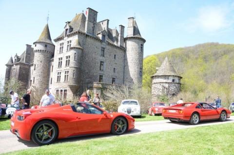 Le Tour Auto au château de Pesteils