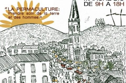 Foire bio à Aurillac quartier Saint-Géraud