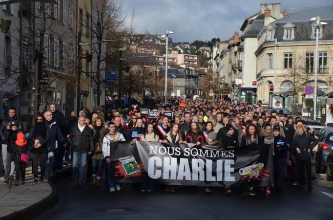 Rassemblement je Suis Charlie à Aurillac