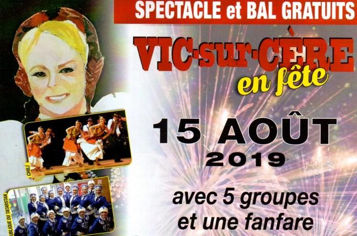 Festival Folklorique Vic sur Cère en Fête