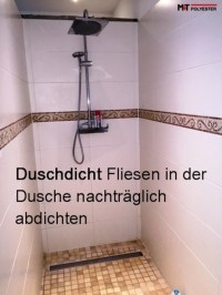 Duschdicht Fliesen-abdichten Dusche Transparent Fugen ...