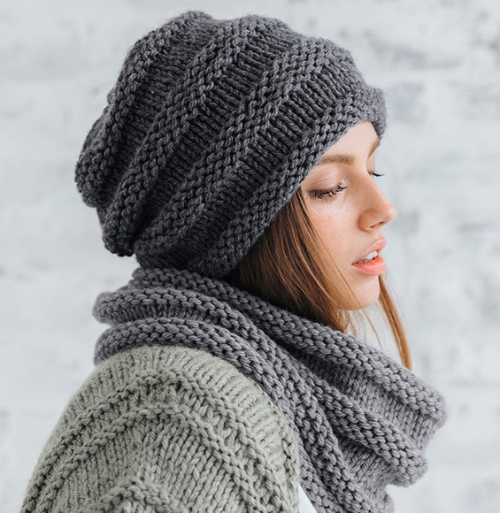 Modèle bonnet fantaisie gris Rapido pelote x 3 · Aux Doigts de Fée 7abc5af17a1