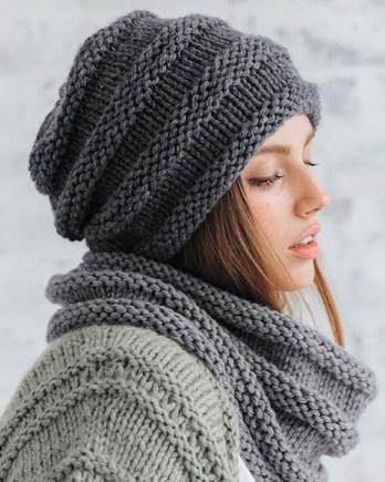 Modèle bonnet fantaisie gris Rapido