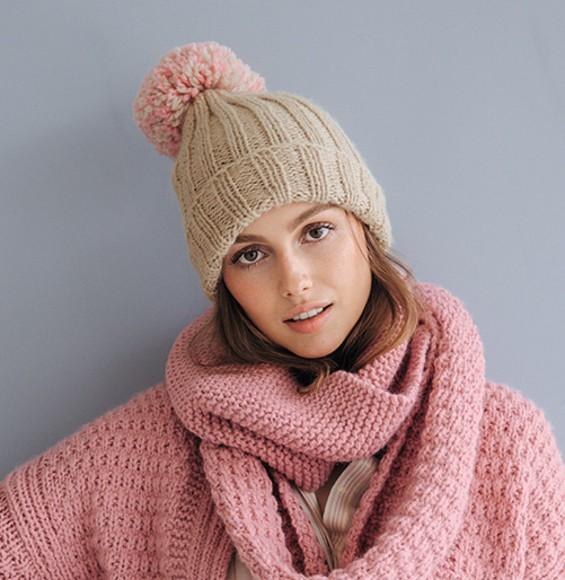 Modèle bonnet rose à pompon Phil Looping