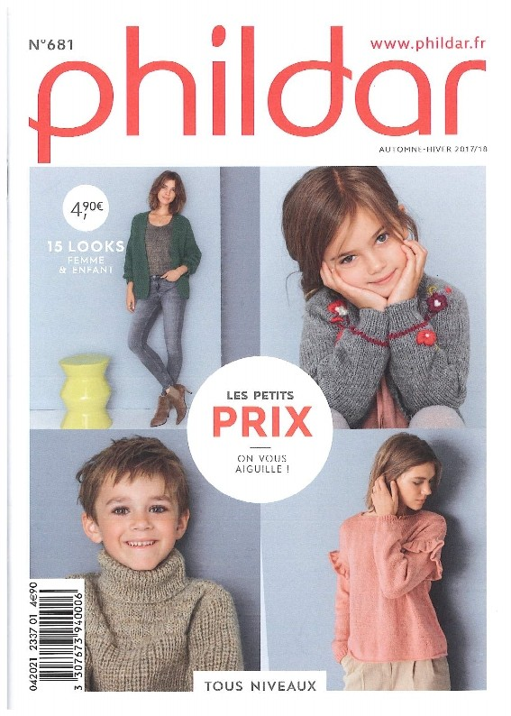 47e9edd1601c Mini-Catalogue N° 681 PHILDAR femmes et enfants 2017 2018- PDF