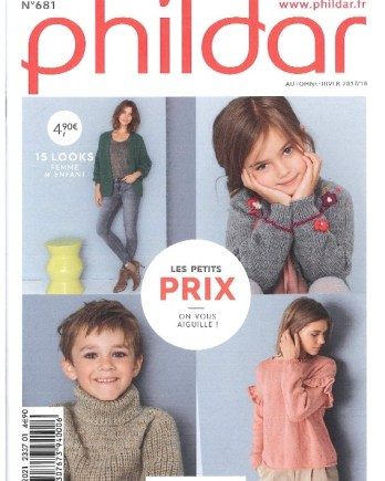 Mini-Catalogue N° 681 PHILDAR femmes et enfants 2017 2018- PDF 0fe881292b9