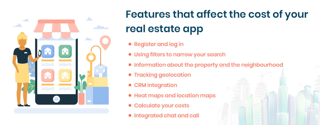 Features that affect the cost of your real estate app