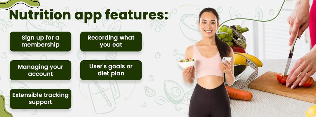 Nutrition app features