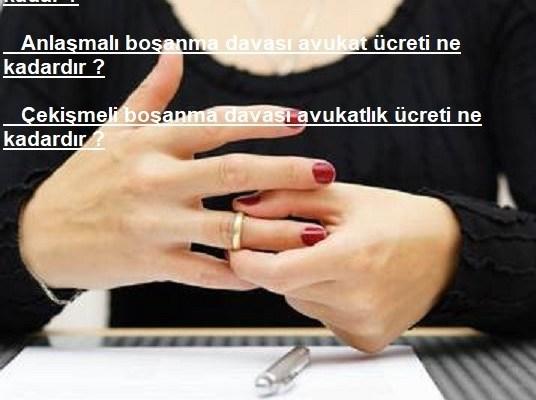 Adana boşanma Avukat Ücreti