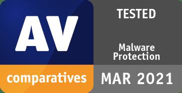 Malware Protection Test (Test AV-Comparatives - martie 2021)