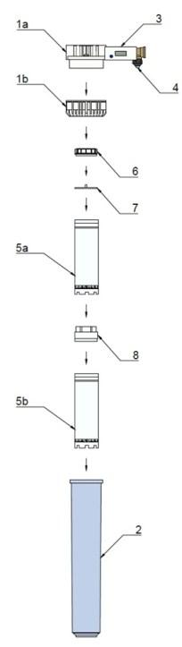 AVDK 200: Demineralizační přenosná jednotka pro demineralizaci vstupní vody - výměna filtrační nápně