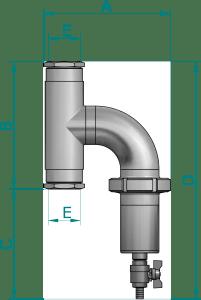 Ultima RD4: Magnetický mechanický filtr pro topné a chladící systémy - rozměry