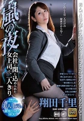 嵐の夜、会社に閉じ込められた女上司と二人きり 翔田千里 [SGM-026/143sgm00026]