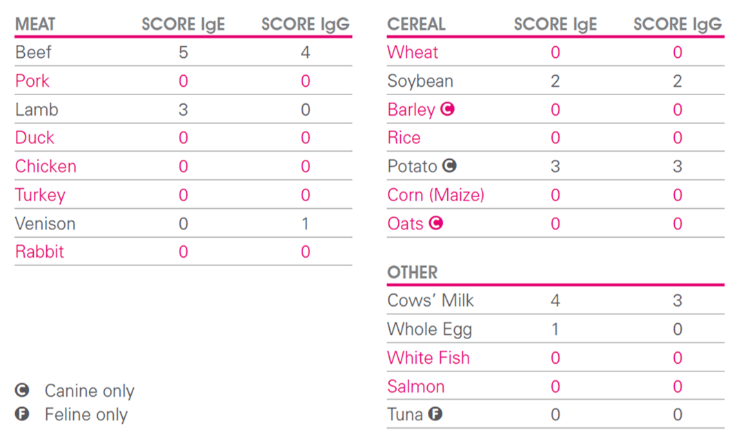 Exclusion Of High Igg Foods