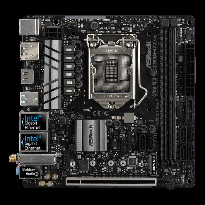 ASRock Z390MITXac Intel Z390 Chipset MiniITX