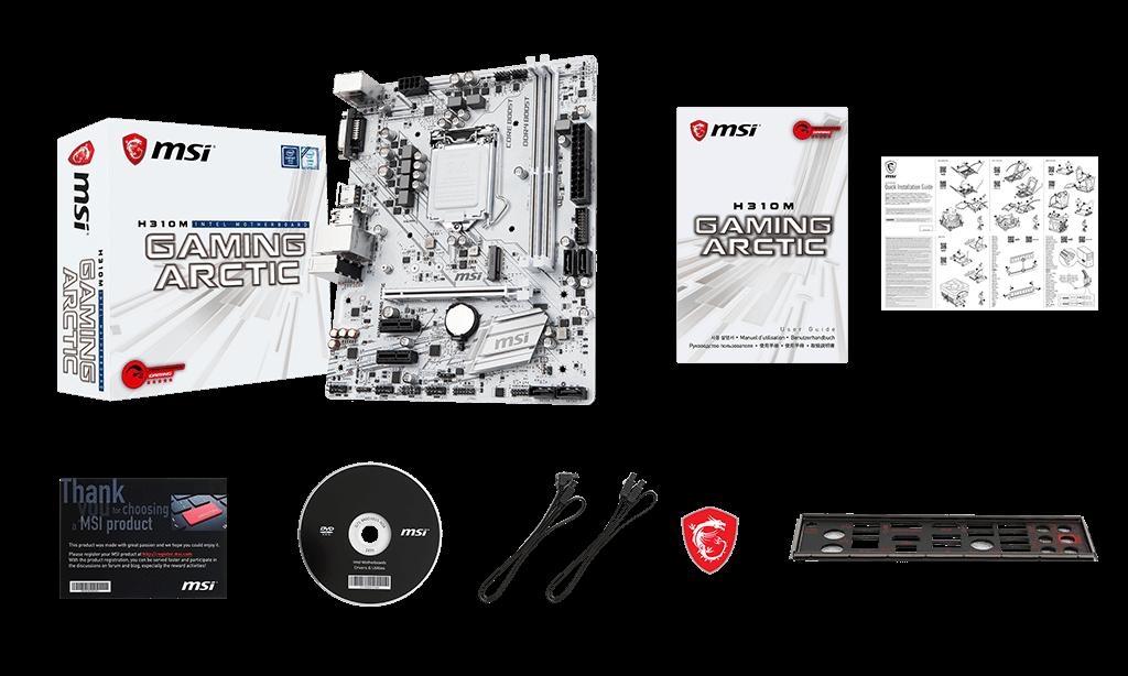 MSI H310M GAMING ARCTIC H310 Chipset Socket LGA 1151