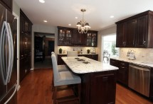 Small Kitchens with Dark Brown Cabinets