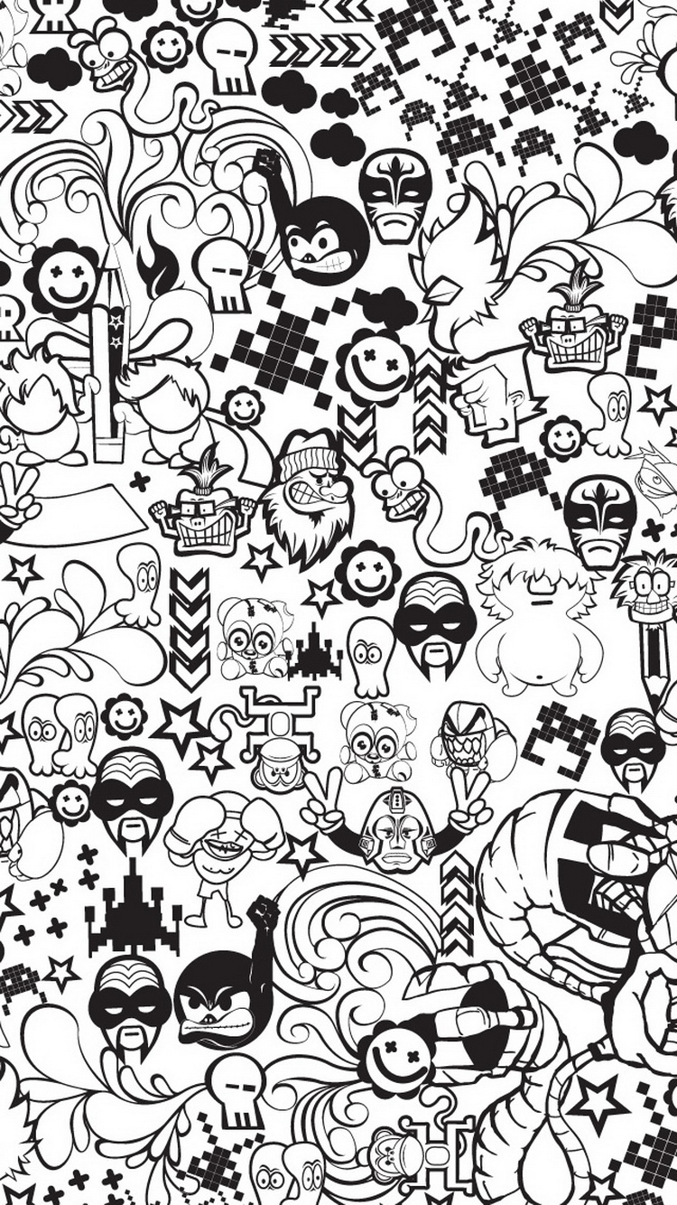 Cute Doodle Wallpaper Hd 30 Amazing Illustrations Iphone Wallpapers