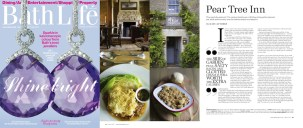 Review coverage for the Pear Tree Inn, following its opening, in Bath Life