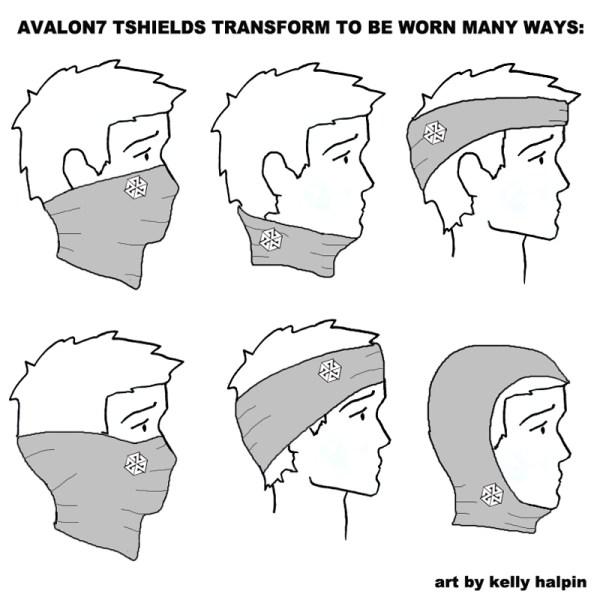 AVALON7 Behold Tshield Flyfishing Facemask