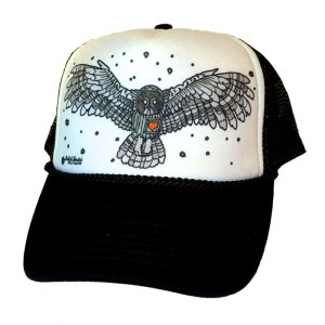 Avalon7 OwlHeart trucker hat by Kelly Halpin