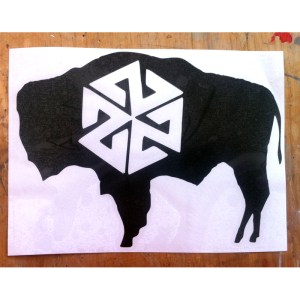 AVALON7 BISON DIE CUT STICKER
