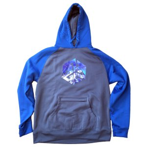 AVALON7 tech fleece hoodie blue majestic tetons