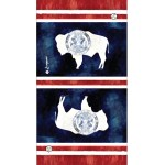 Wyoming Flag Bison Faceshield neckgaiter by AVALON7