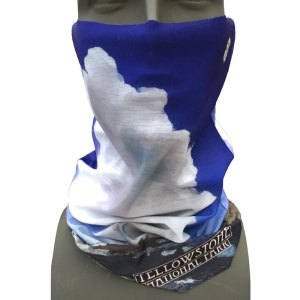 Yellowstone National Park bandana facemask Old Faithful design