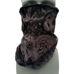 Black Wolf Fleece Neck Gaiter- Cam Fitzpatrick Pro Model