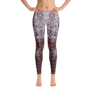 YL08 RED ICE INVERTED | AVALON7 ARTIST SERIES YOGA LEGGINGS