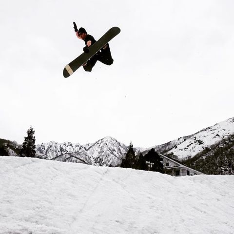 Our homie Nori ripping at Hakuba yesterday. He hiked twice as high as everyone and sent it! #LiveActivated #snowboarding