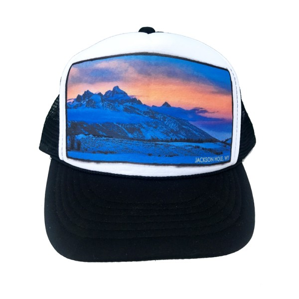 AVALON7 Walton Ranch Tetons trucker hat designed in Jackson Hole, Wyoming
