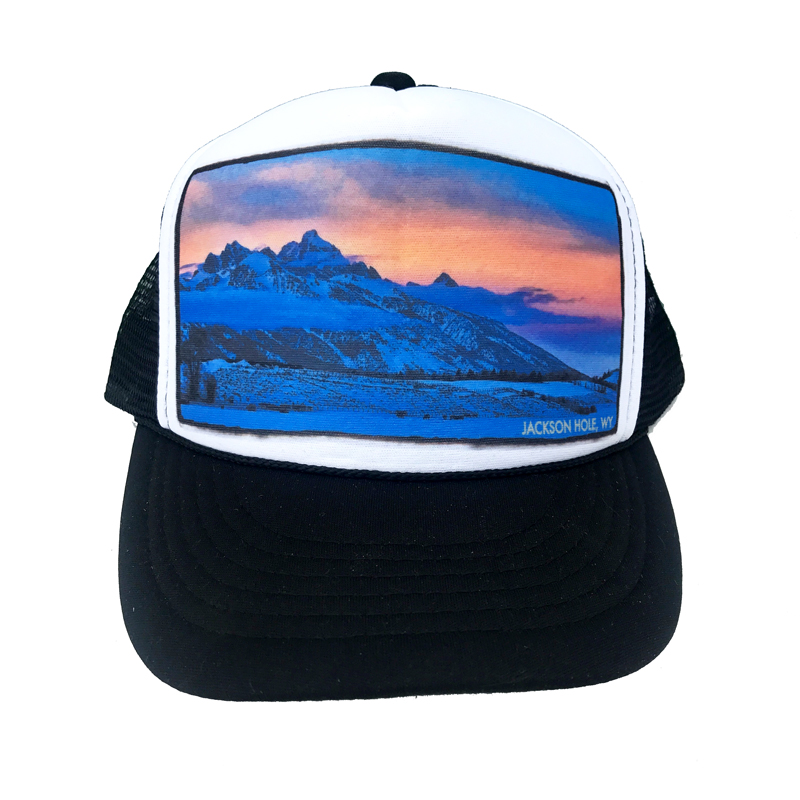 70f15a1b315fbe AVALON7 Walton Ranch Tetons trucker hat designed in Jackson Hole, Wyoming