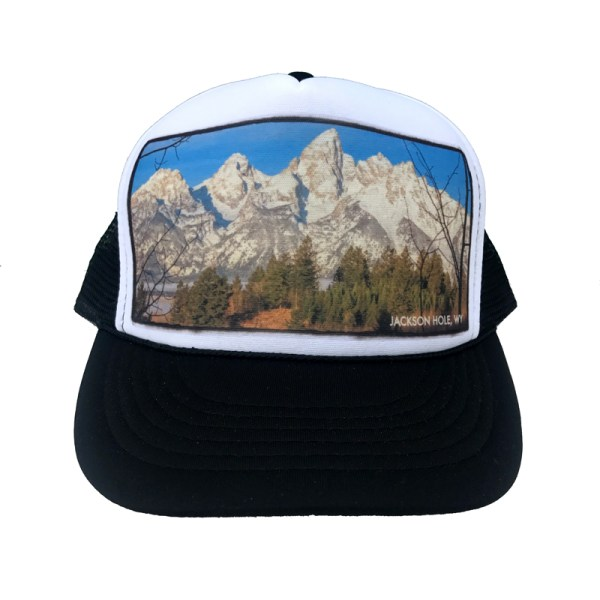AVALON7 Shadow Mountain Teton Trucker hat designed in Jackson Hole