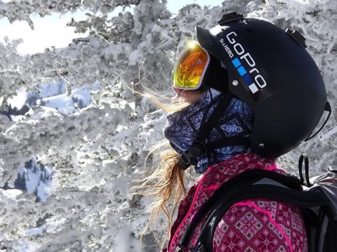 A7 Artist and adventurer @lynseydyer enjoys the @jacksonhole backcountry today with her favorite FaceShield to keep her face warm and toasty.  The Blue Spirit Balaclava is light and warm and just plain awesome! @avalon7 #liveactivated #seekbeauty #skiing #jhdreaming