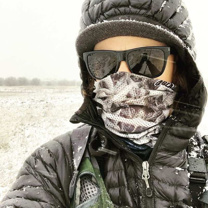 """I decided I really needed to go catch some fish yesterday, even though it was dumping snow and freezing in the valley. My [A7] Mesh FaceShield was the perfect solution for keeping my face warm and protected from the wind while not fogging my sunglasses."" -@robkingwill  #StayStokedOutdoors #flyfishing www.avalon7.com"