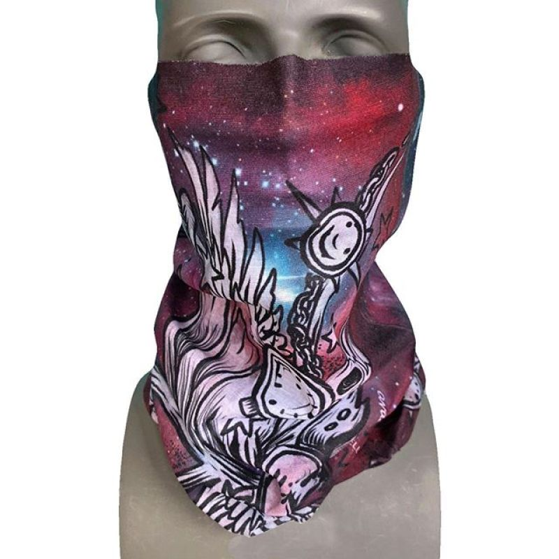"""This beautiful new FaceShield design is called """"Interstellar"""", featuring art by the amazing @kyehalpin!  Elevate your style and stay stoked this winter!  #AVALON7 #ArtistSeries #SeekTheStoke #snowboarding"""