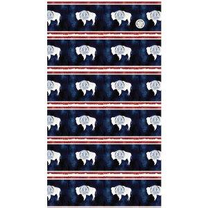 AVALON7 Breathable Mesh Hiking Sunmask- Wyoming Flag