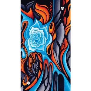 AVALON7 Katie Cleveland Art rosesnowboard and ski facemask