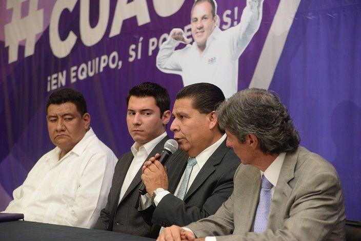 Lo anterior, luego de que el pasado fin de semana el Instituto Morelense de Procesos Electorales y Participación Ciudadana rechazó la candidatura de José Luis Gómez Borbolla, dejando a la coalición sin abanderado en la capital de Morelos