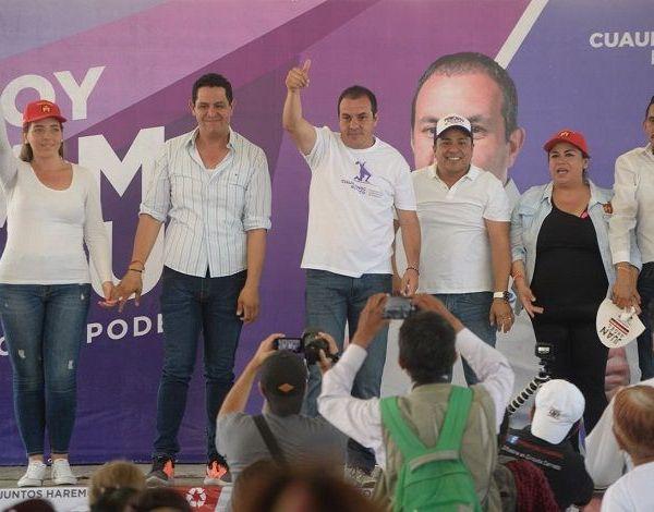 En Tehuixtla, expresó que en cada proceso electoral hay quienes ofrecen algo a la gente a cambio de que voten por ellos, sin embargo, destacó que hoy Morelos merece un cambio y con los abanderados de la coalición PT-MORENA-PES no se van a equivocar